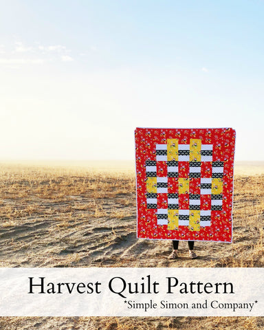 PATTERN (PDF): The Harvest Quilt Pattern (Immediate Download)