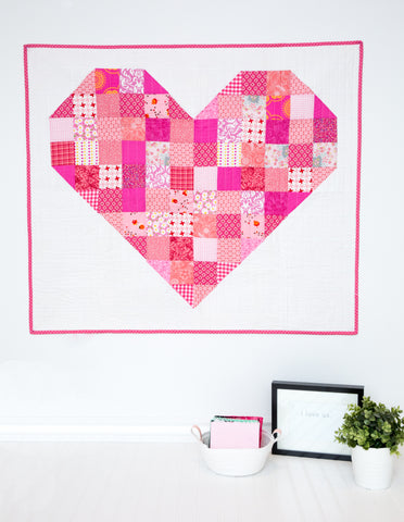 PATTERN (PDF): The Heart Throw Quilt (Immediate Download)