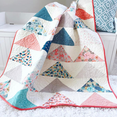 PATTERN (PDF): Minimal Triangles Quilt Pattern
