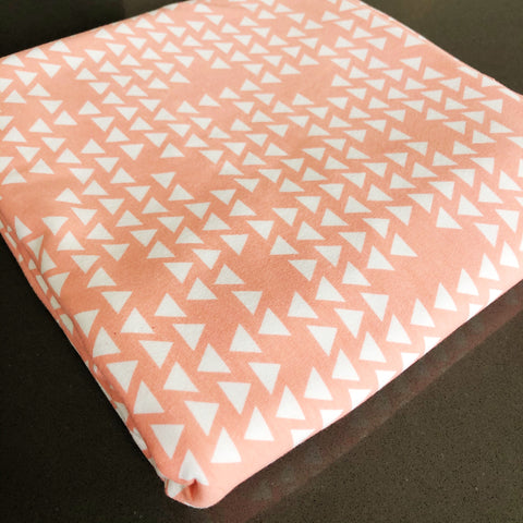 FABRIC: (Knit) 2 Yards By Popular Demand Triangles in Coral