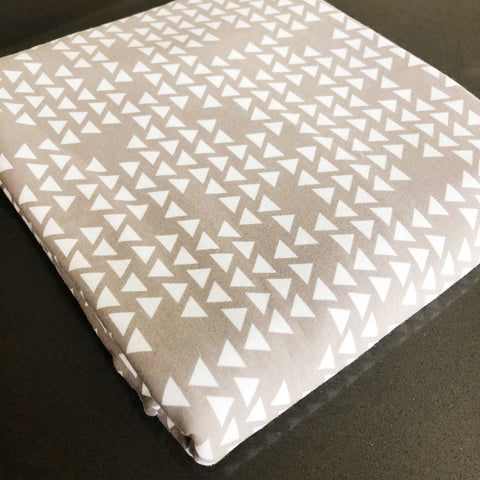 FABRIC: 2 Yards By Popular Demand Triangles in Grey