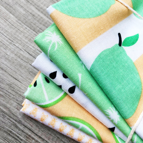 FABRIC (Fat Quarter Bundle): Just Add Sugar Bundle Lime with Seeds