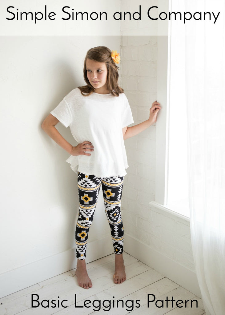 PATTERN (Paper): Basic Leggings Pattern