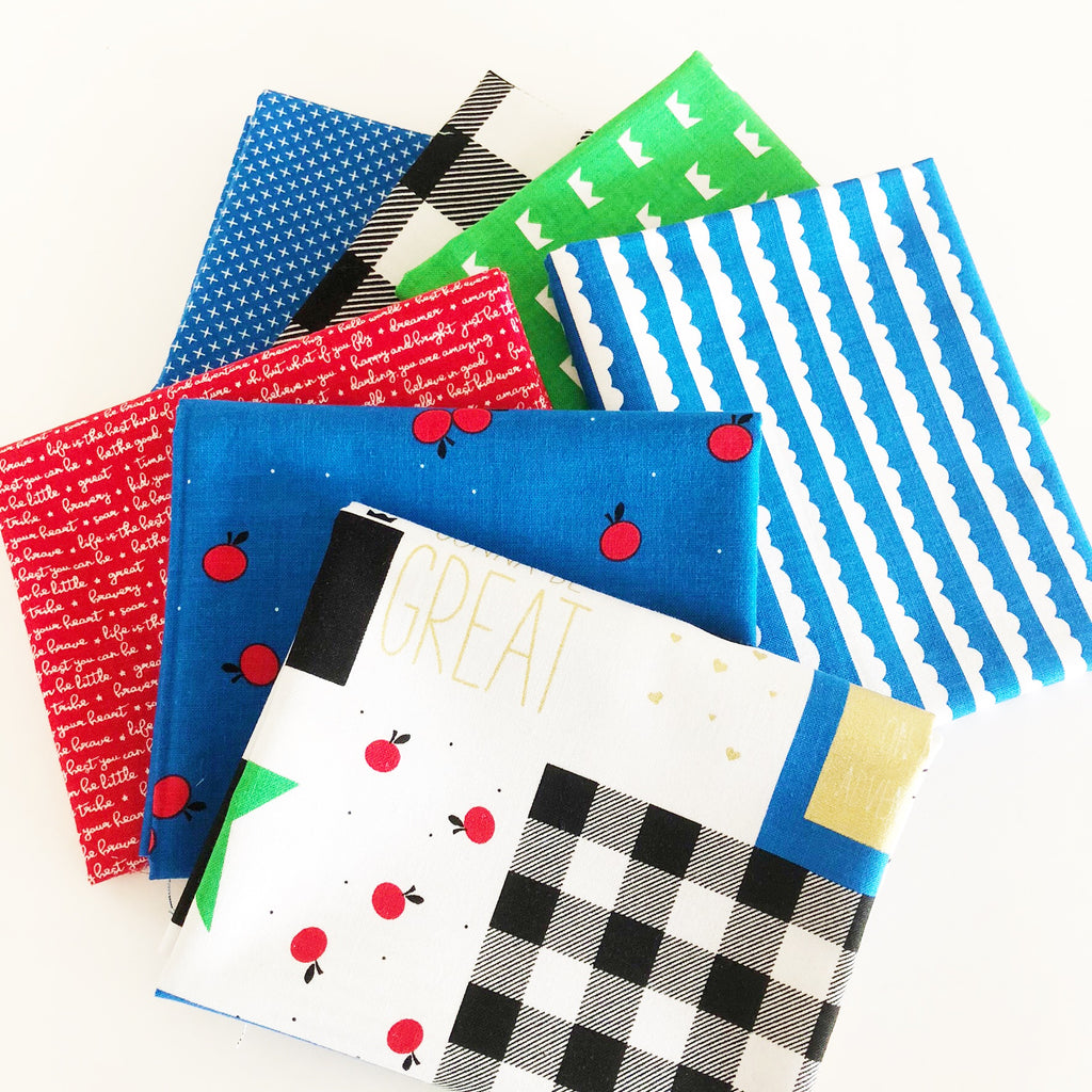 FABRIC (Fat Quarter Bundle):  Let Them Be Little (Blue)