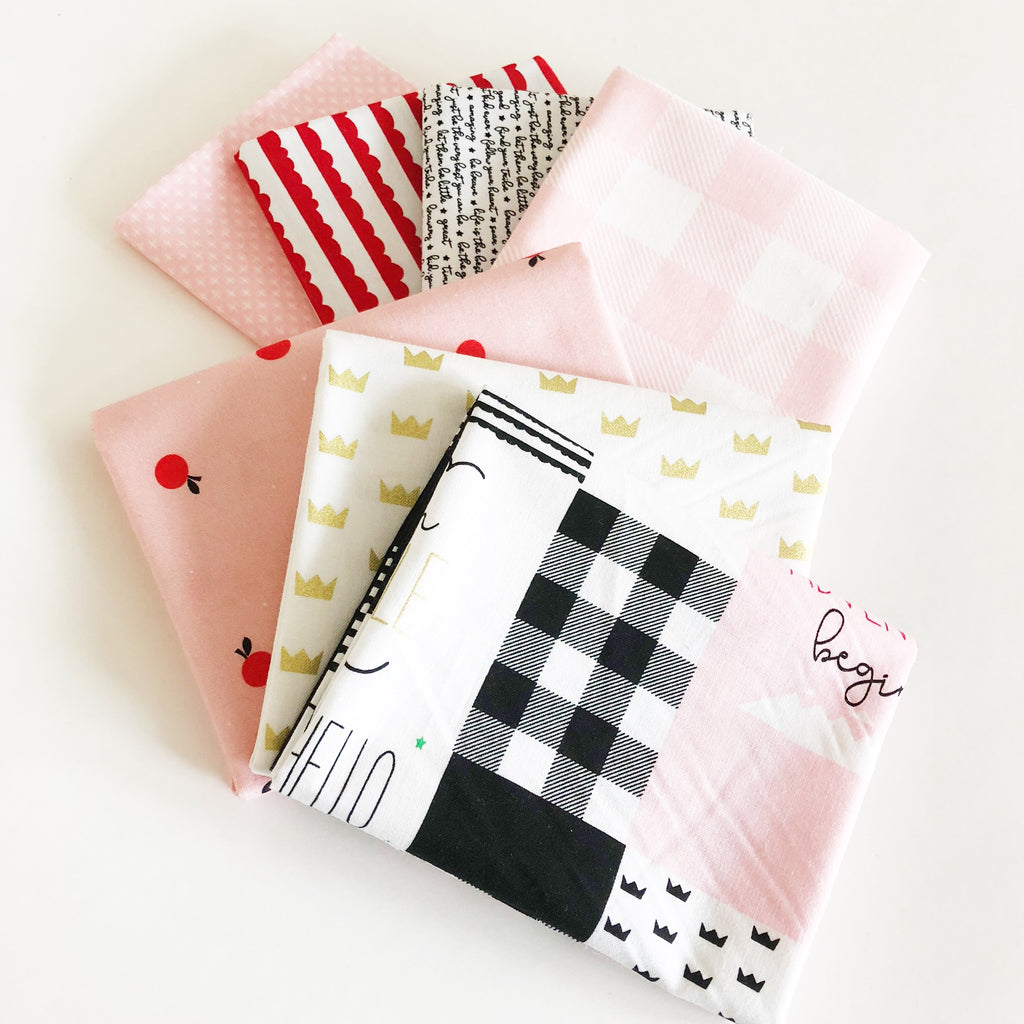 FABRIC (Fat Quarter Bundle):  Let Them Be Little (Pink)
