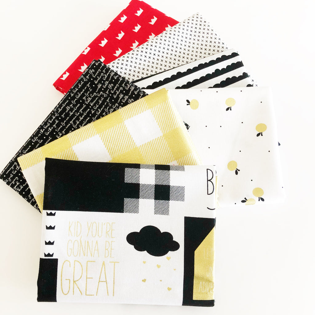 FABRIC (Fat Quarter Bundle):  Let Them Be Little (Black)