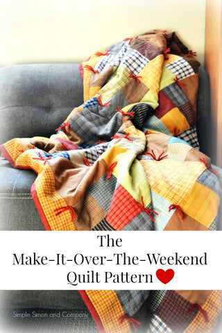 PATTERN (PDF):  The Make-It-Over-The-Weekend Quilt Pattern (Immediate Download)