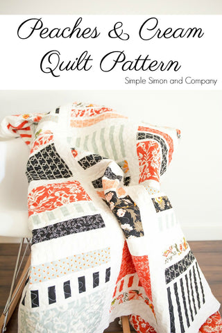 PATTERN (PDF):  Peaches & Cream Quilt (Immediate Download)