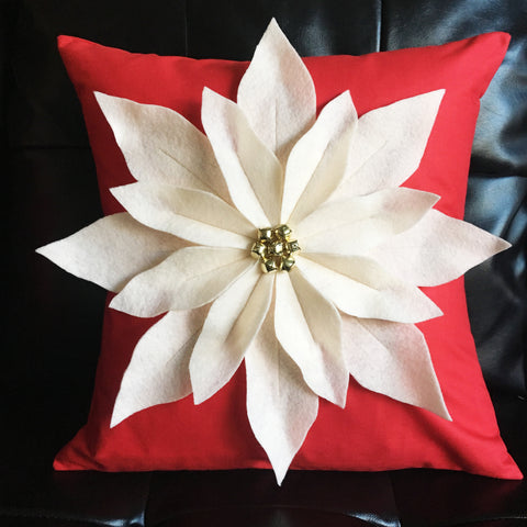 Kit (Pillow):  Poinsettia Pillow Kit (Red)