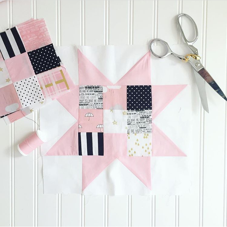 KIT (Quilt):The Scrappy Sawtooth Quilt Kit--PINK