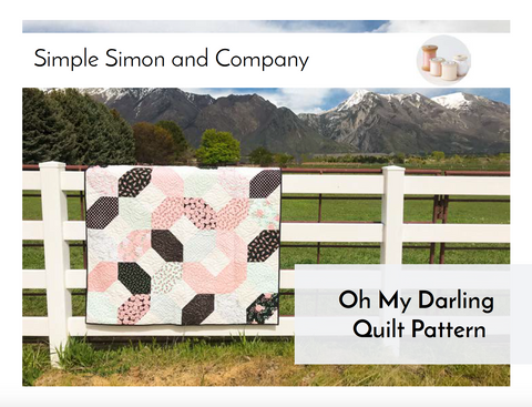 PATTERN (PDF): Oh My Darling Quilt Pattern (Immediate Download)