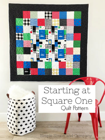 PATTERN (PDF): Starting at Square One Quilt (Immediate Download)