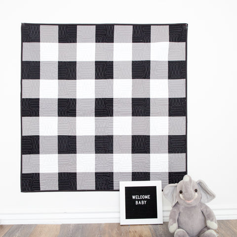 PATTERN (PDF): Giant Gingham Quilt Pattern, Two Sizes (Immediate Download)