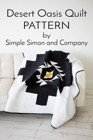 PATTERN (PDF):  Desert Oasis Quilt PDF Pattern (Immediate Download)