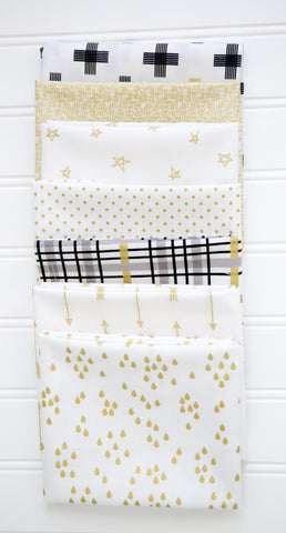 FABRIC (Fat Quarter Bundle): Gold Sparkle Fat Quarter Bundle