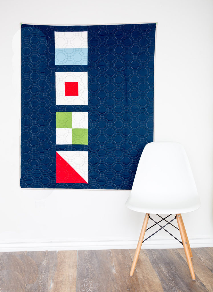 KIT (Quilt): Nautical Summer Quilt ALong Modern Baby Quilt