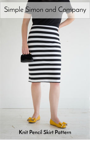 PATTERN (Paper): Knit Pencil Skirt