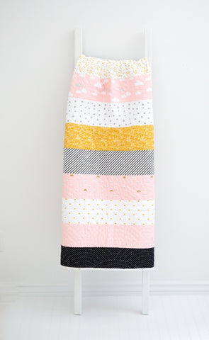 KIT (Quilt): When Skies are Grey Baby Quilt (Pink)