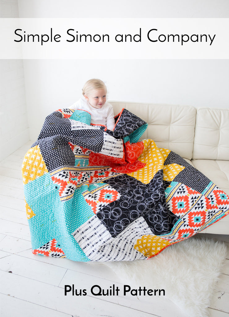 PATTERN (PDF):  The Plus Quilt PDF Pattern (Immediate Download)