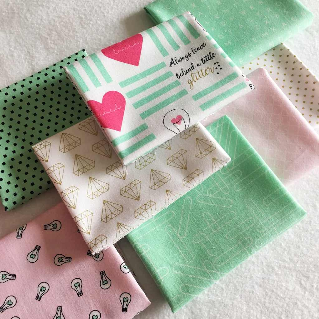FABRIC (Fat Quarter Bundle):  Shine Bright Green