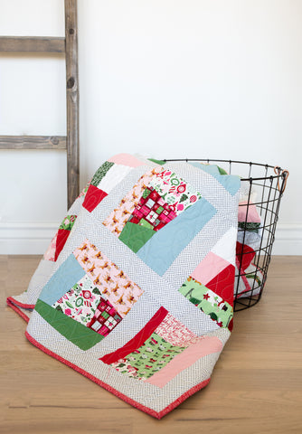 PATTERN (PDF): Simple Christmas Quilt (Immediate Download)