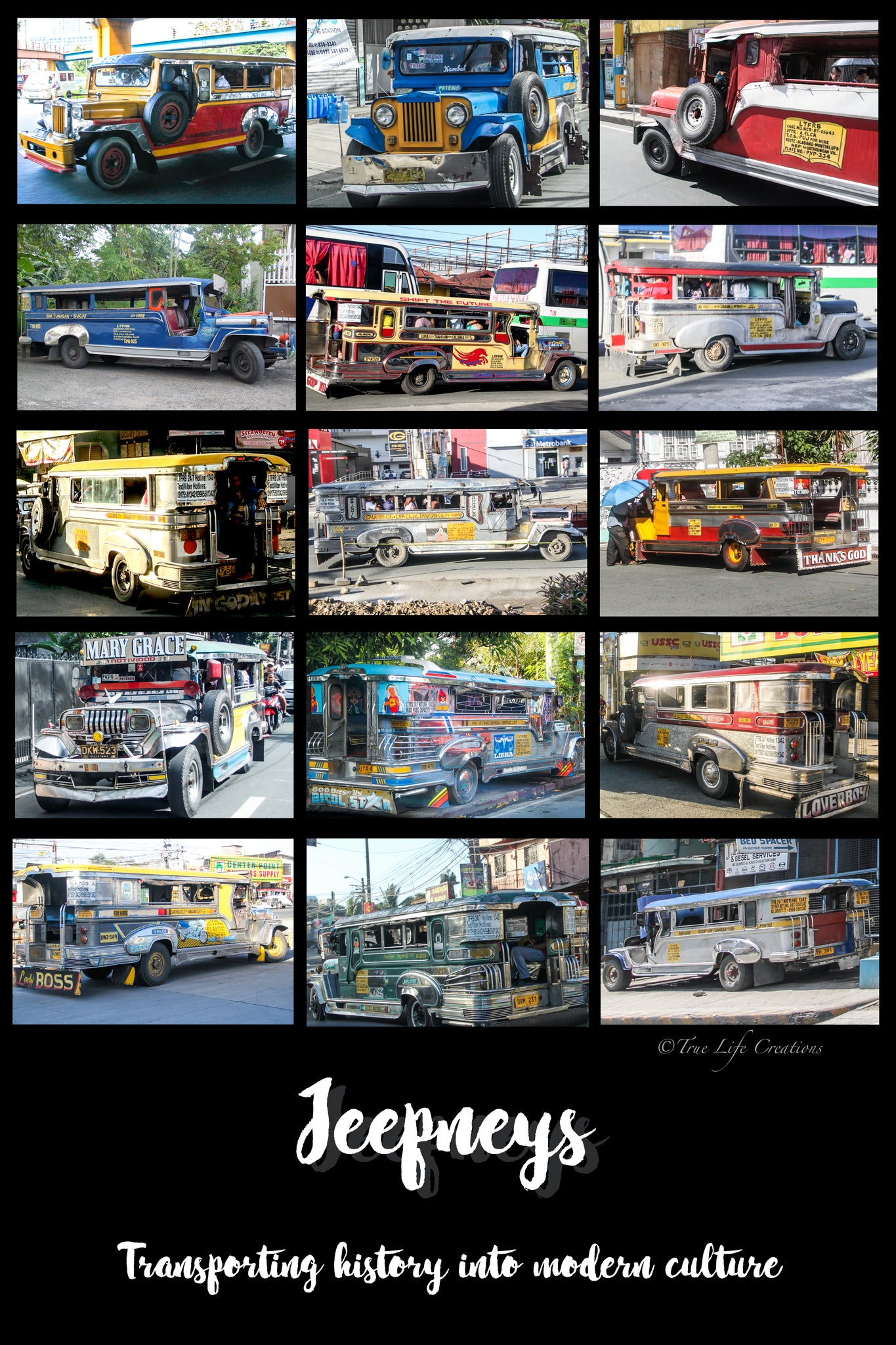 """Oh My Jeepneys"" Poster 20x16"