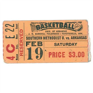 1952 Basketball Ticket