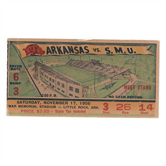 1956 SMU Ticket