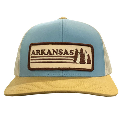 AR Trees Hat - Smoke Blue/Amber Gold