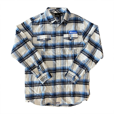 AR Flannel - Grey/Blue