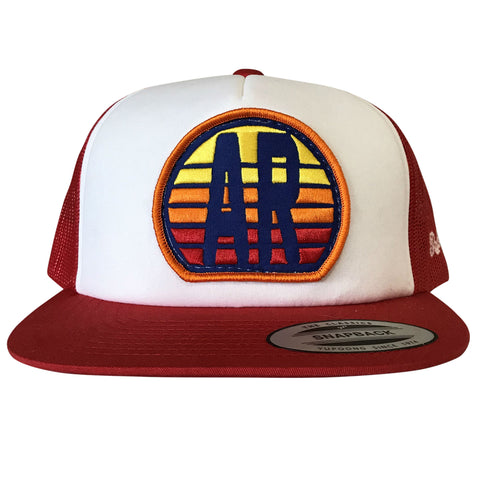 AR Sunset Hat - White/Red