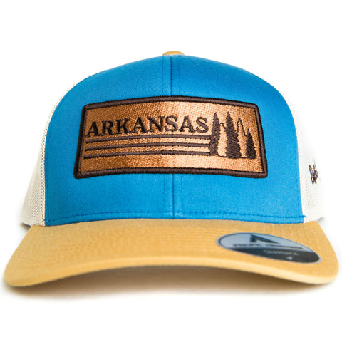 AR Trees Hat - Ocean Blue/Amber Gold