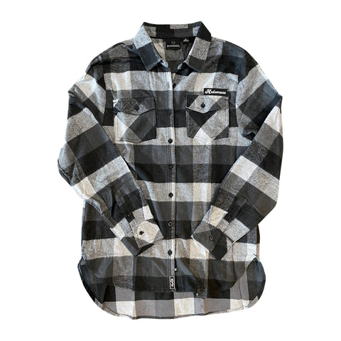 AR Women's Flannel - Ecru/Black Buffalo