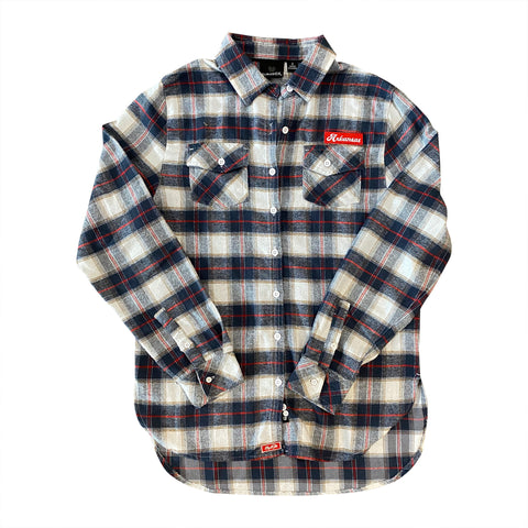 AR Women's Flannel - White/Red
