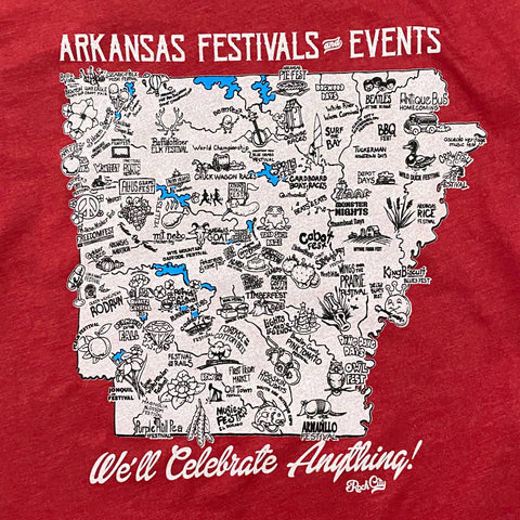 Arkansas Festivals Tee - Red