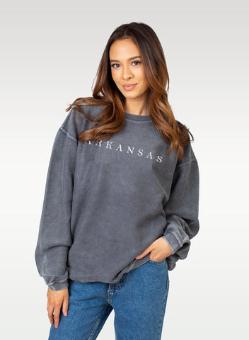 Hometown Corded Sweatshirt - Charcoal