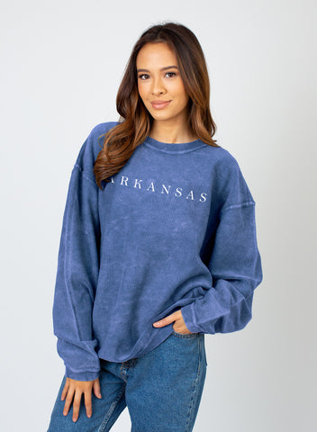 Hometown Corded Sweatshirt - Royal