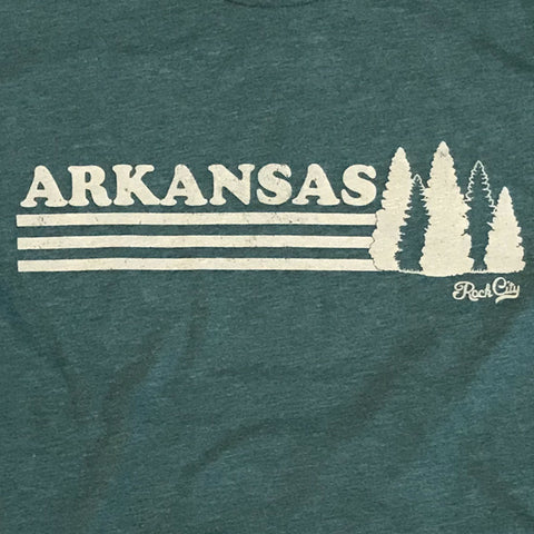 Arkansas Trees Tee - Forest Green