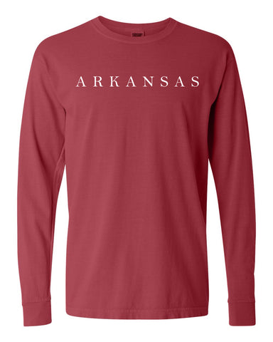 Hometown Long Sleeve - Crimson