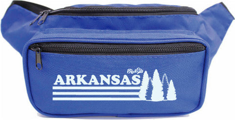 Arkansas Trees Fanny Pack - Blue