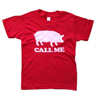 Call Me Red Kids Tee SS
