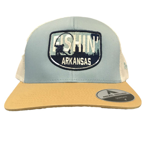 Fishin' AR Hat - Smoke Blue/Amber Gold