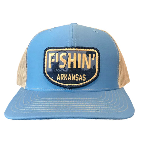 Fishin' AR Hat - Blue/Khaki
