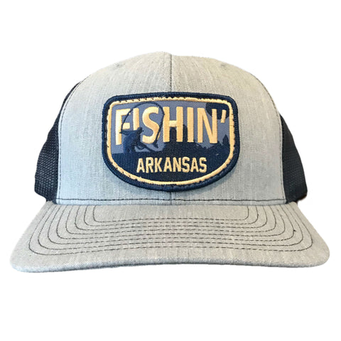 Fishin' AR Hat - Heather Grey/Navy