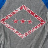 Arkansas Flag Raglan - Blue