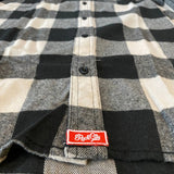 AR Flannel - Ecru/Black Buffalo