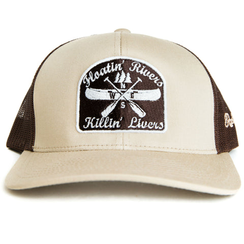 Floatin' Rivers Hat - Khaki/Brown