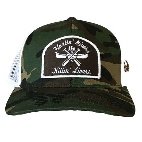 Floatin' Rivers Hat - Camo/White