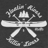 Floatin' Rivers Charcoal Tee