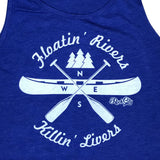 Floatin' Rivers Killin' Livers Tank - Blue